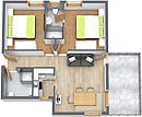 Floorplan Apartment 11 Haus Vorstatt in Fiss