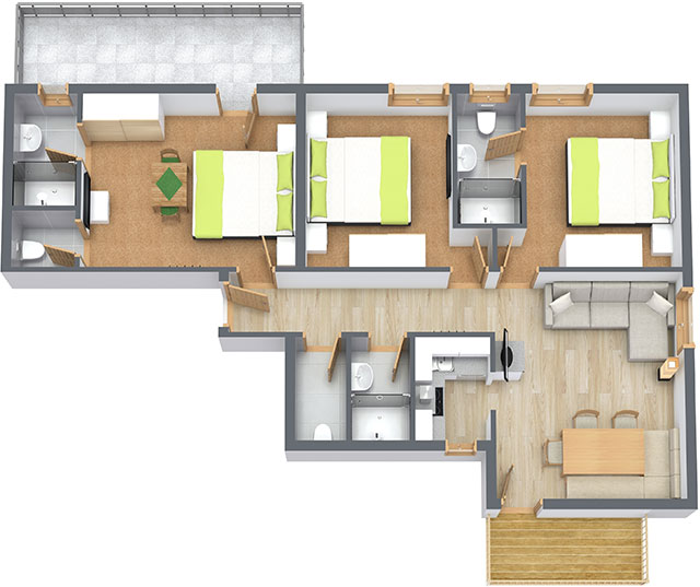 Floorplan Apartment 12 Haus Vorstatt in Fiss